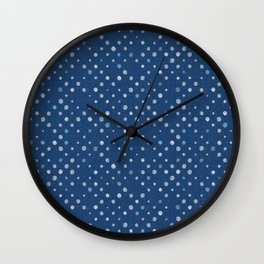 LOTS OF DOTS / indigo blue / linen beige / light blue Wall Clock