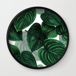 tropical green pattern Wall Clock