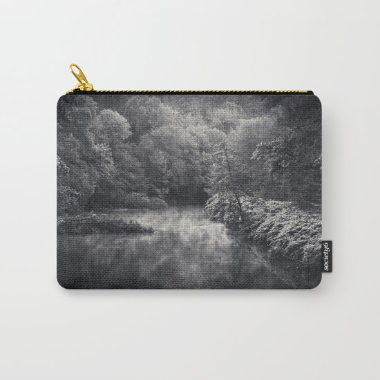 River in Black and Silver Carry-All Pouch