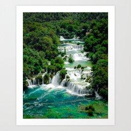 Croatia Waterfall - Skradinski Buk Art Print