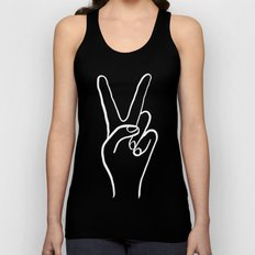 Peace Out Unisex Tank Top