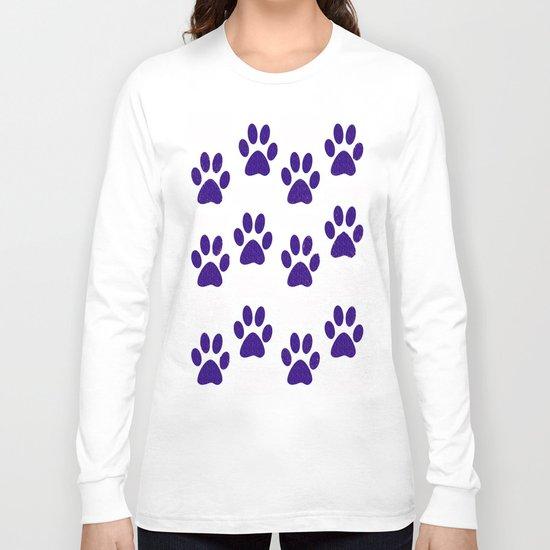 Purple Paws Long Sleeve T-shirt