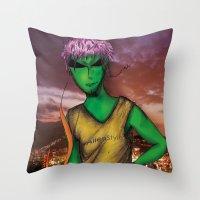 rio de janeiro Throw Pillows featuring RIO DE JANEIRO by Alien Style