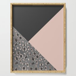 Leopard Geometric Glam #1 #minimal #decor #art #society6 Serving Tray