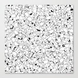 Chess Pattern WHITE Canvas Print