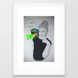 Come follow me, I'm on my way to believing Framed Art Print