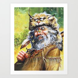 Bugged Mountain Man Art Print