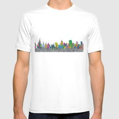 A night on the Town White Mens Fitted Tee MEDIUM
