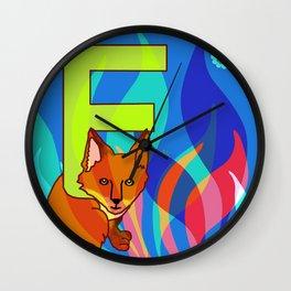 F for Fox Wall Clock