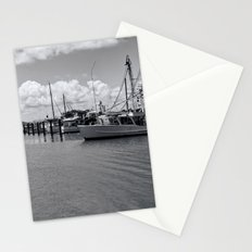 Moored boats in tranquil scene Stationery Cards