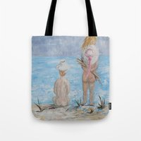 hats Tote Bags featuring Hats by EloiseArt