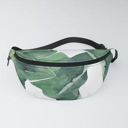 Tropical Island Leaves Fanny Pack