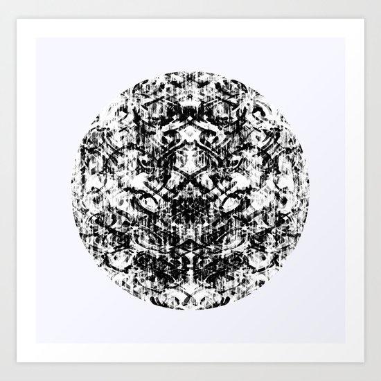 Mendhi Colourless Art Print