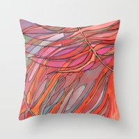palms Throw Pillows featuring Palms by Carla_S