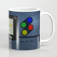 gameboy Mugs featuring GAMEBOY COLOR by Smart Friend