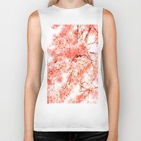 cherry blossoms Biker Tanks featuring Cherry Blossoms by 2sweet4words Designs