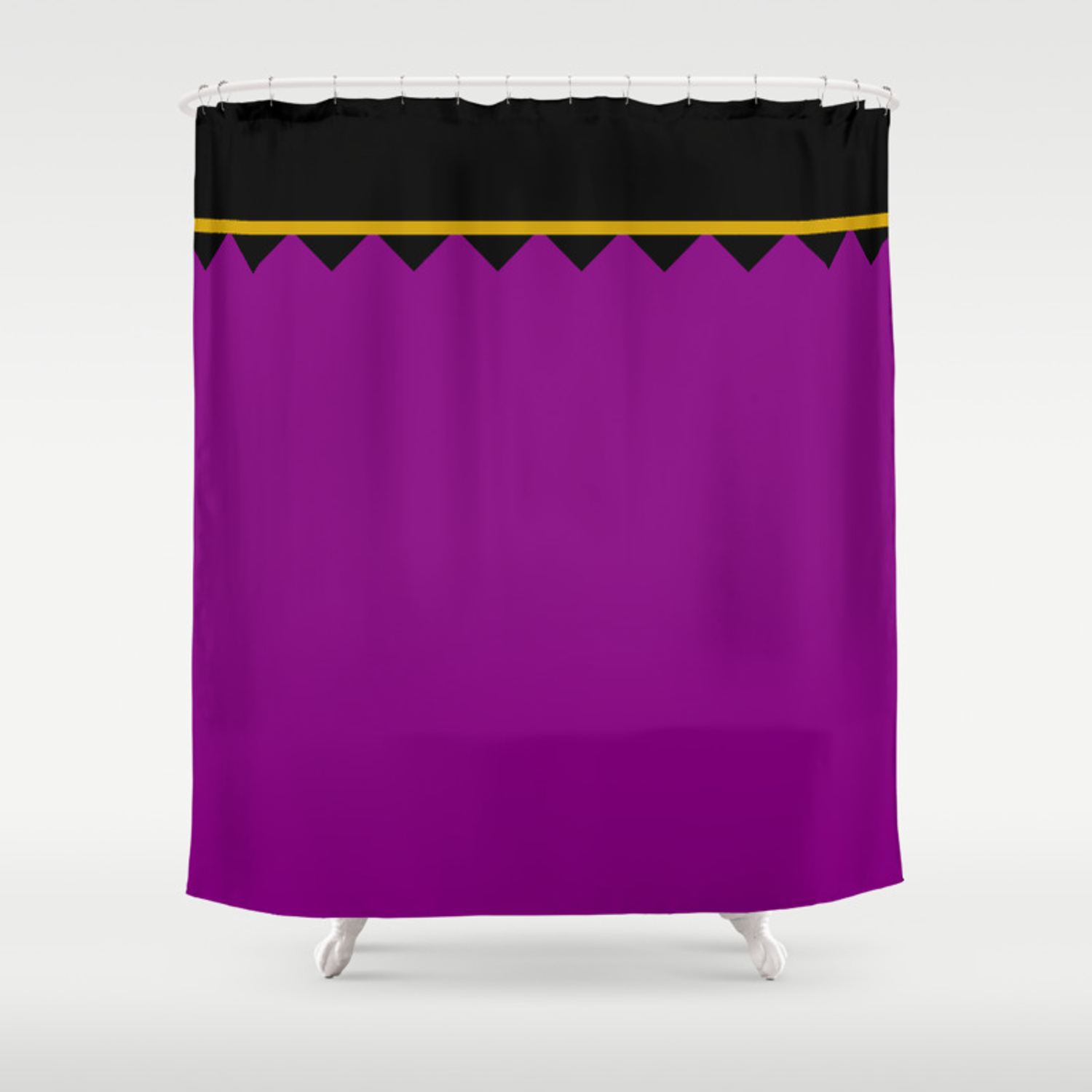 Luxury Artistic Edition Morocco Purple With Black Shower Curtain