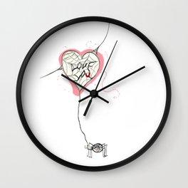 itty bitty valentine Wall Clock