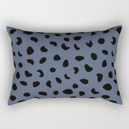 Leopard Print - Dark Blue Rectangular Pillow