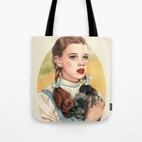 helen Tote Bags featuring I Don't Think We're In Kansas Anymore by Helen Green