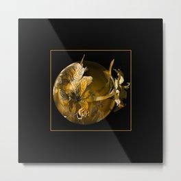 golden flower Metal Print