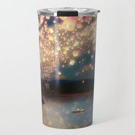 Love Wish Lanterns Travel Mug