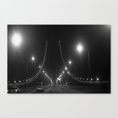 Late Nights on the Bay Bridge Canvas Print