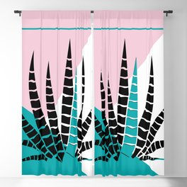 Modern geometric background stylized aloe-vera illustration Blackout Curtain