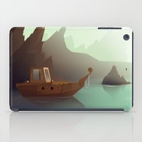 ship iPad Cases featuring ship by Alevan