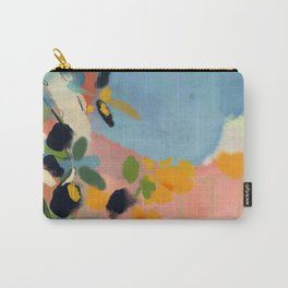 garden with sea view and olive tree Carry-All Pouch