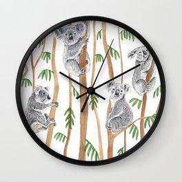 Koala Forest Wall Clock