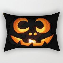 Vector Image of Friendly Halloween Pumpkin  Rectangular Pillow