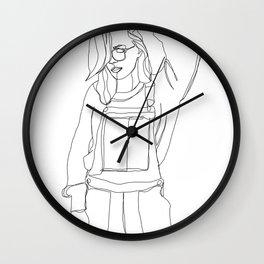 Fashion illustration drawing - Caley Wall Clock