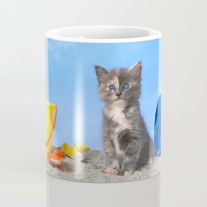 Kitten Fun in the Sun Beach Time Coffee Mug