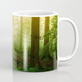 Misty Green Forest Photography Coffee Mug