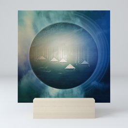 Communicate in Blue / Archipelago 27-01-17 Mini Art Print