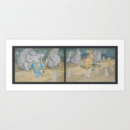 Rise of the Emperabbit Art Print