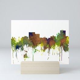 Chatanooga Tennessee Skyline - Safari Buff Mini Art Print