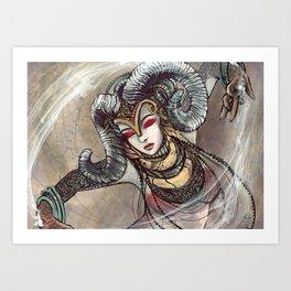 Zodiac Sign: Aries Art Print