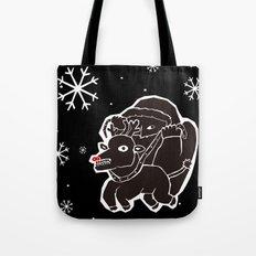 black christmas Tote Bag