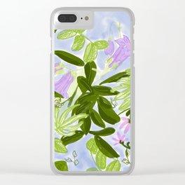 Lilac Jungle Clear iPhone Case