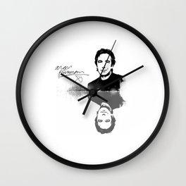 "Laptop-Skin ""Alan Rickman - BlackWhiteMirror"" Wall Clock"
