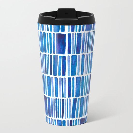 Blue Vibes Metal Travel Mug