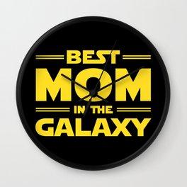 Best Mom in the Galaxy Wall Clock