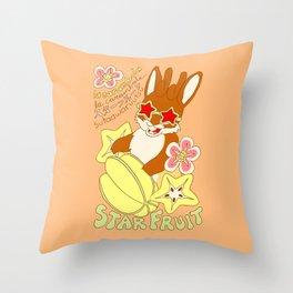 Jackalope and Starfruit Throw Pillow