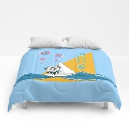 Scummy Panda Sailing Away! Comforters