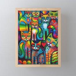 Owl and Pussicats Framed Mini Art Print