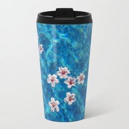 Almond blossom floating in swimming pool Travel Mug