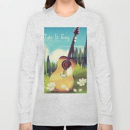 Take it Easy guitar poster. Long Sleeve T-shirt