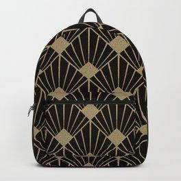 Black And Gold Art Deco Design Backpack
